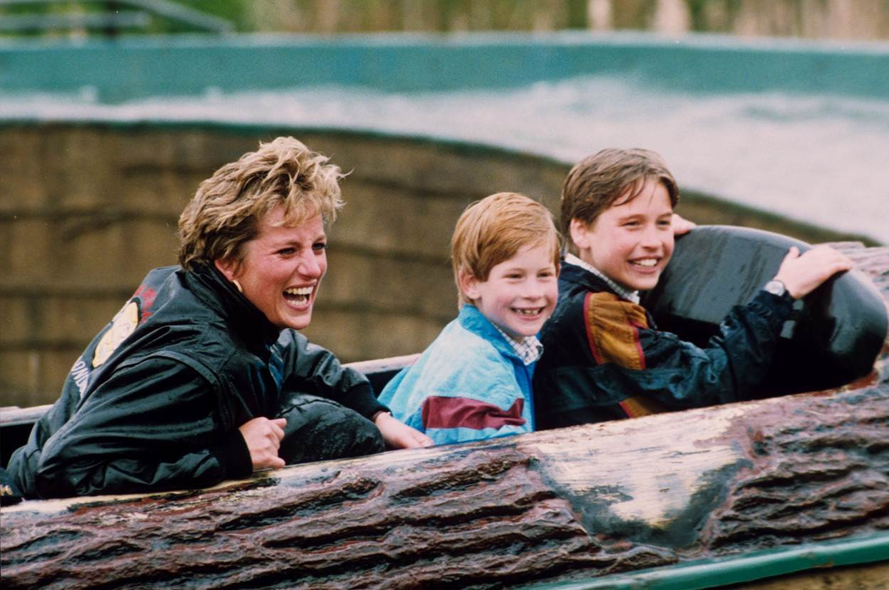 Diana s Williamom i Harryjem