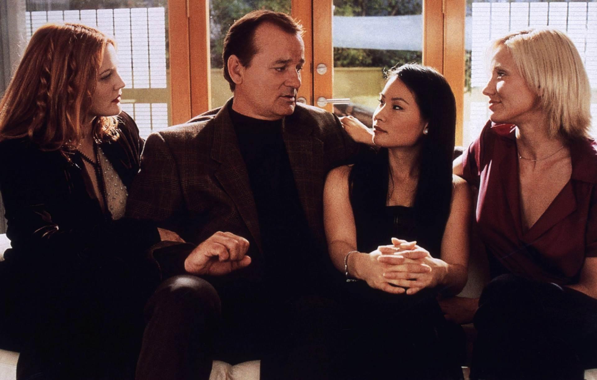 Drew Barrymore, Bill Murray, Lucy Liu i Cameron Diaz u filmu Charlijevi anđeli