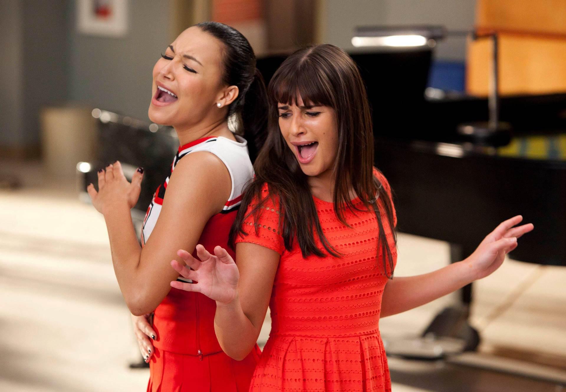 Naya Riviera i Lea Michele u seriji Glee