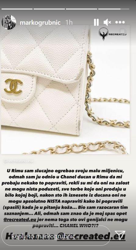 Marko Grubnić razočaran brendom Chanel