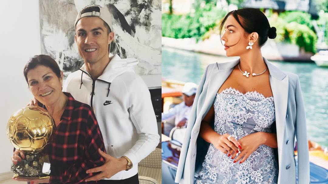 Cristiano Ronaldo, majka Dolores i Georgina Rodriguez