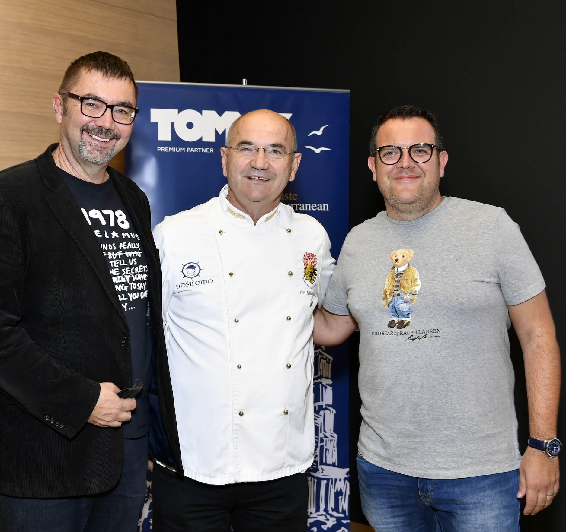 Siniša Koceić, sommelier i chefovi Zlatko Marinović Noštromo i Dane Tahirović