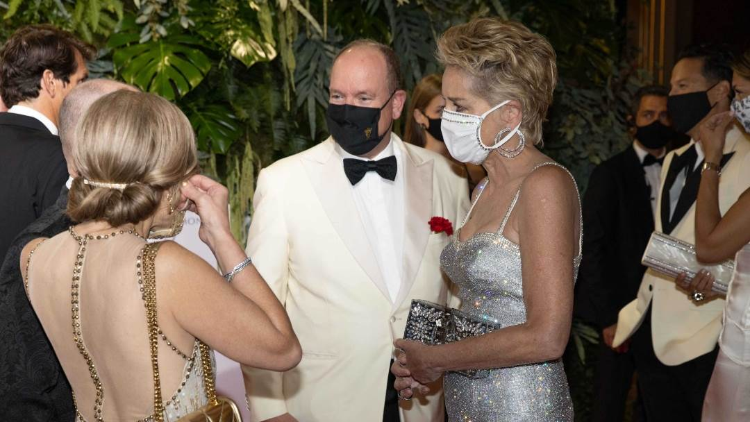 Princ Albert i Sharon Stone