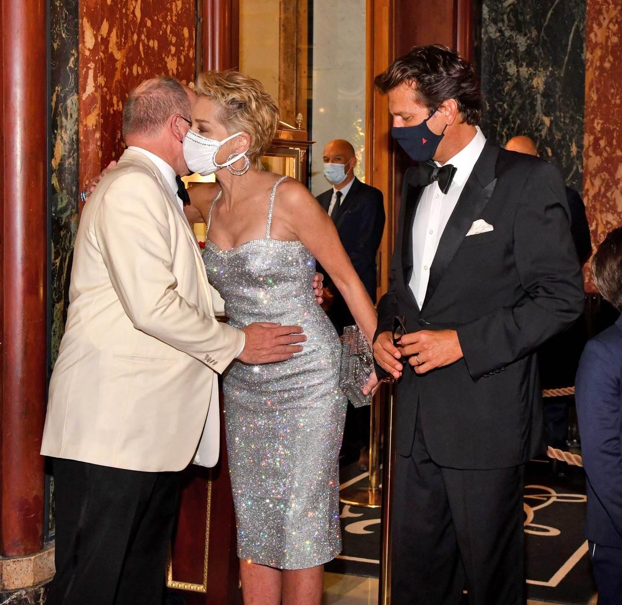 Sharon Stone i princ Albert II. - Profimedia