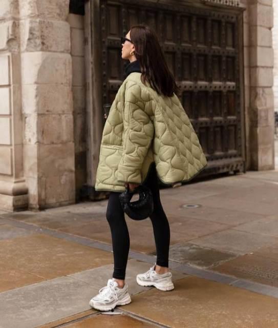 Tajice i puffer jakna